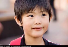 Kid Eating Ice Cream by usr-c