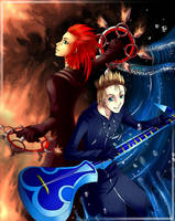 Axel and Demyx by Firefly-Raye