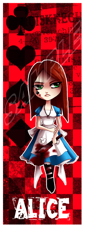 Alice Bookmark 2 by Firefly-Raye