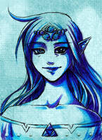 Nayru Portrait by Firefly-Raye
