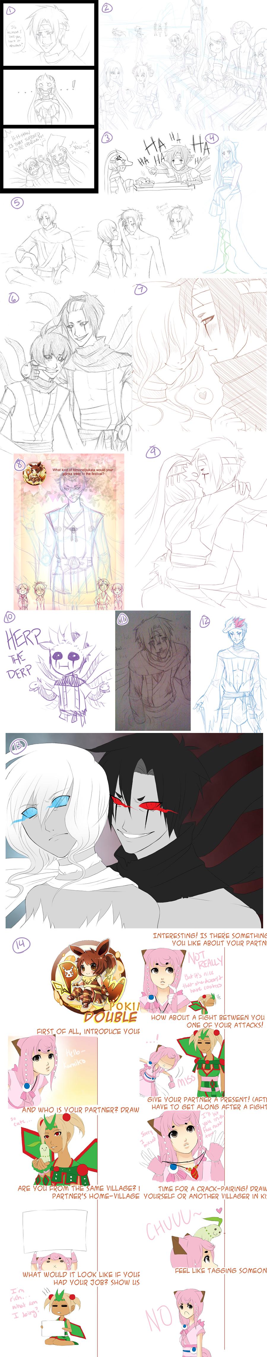 Pokimono Sketch Dump 5 by Firefly-Raye