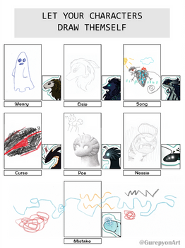 TWWM Characters Drawing Themselves Meme