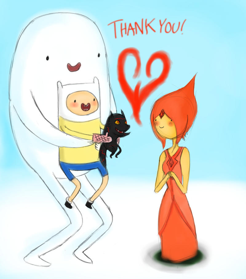Time Finn And Flame Princess Kids Thank you flame princess byFlame Princess And Finn Kids
