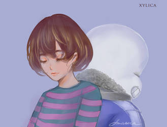 frisk X sans by Xylica