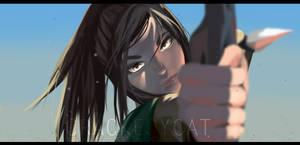Anime-SnK Sasha Braus by crackedycat