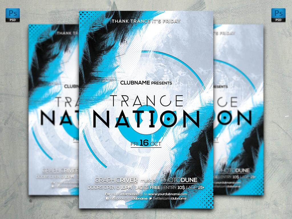 Azure Flyer Template | Trance Nation Flyer Template By Artbeatdesigns On Deviantart