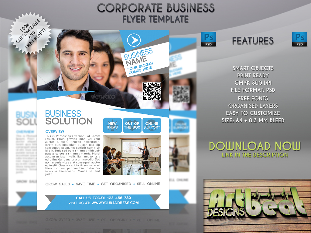 corporate business flyer template by artbeatdesigns on corporate business flyer template by artbeatdesigns