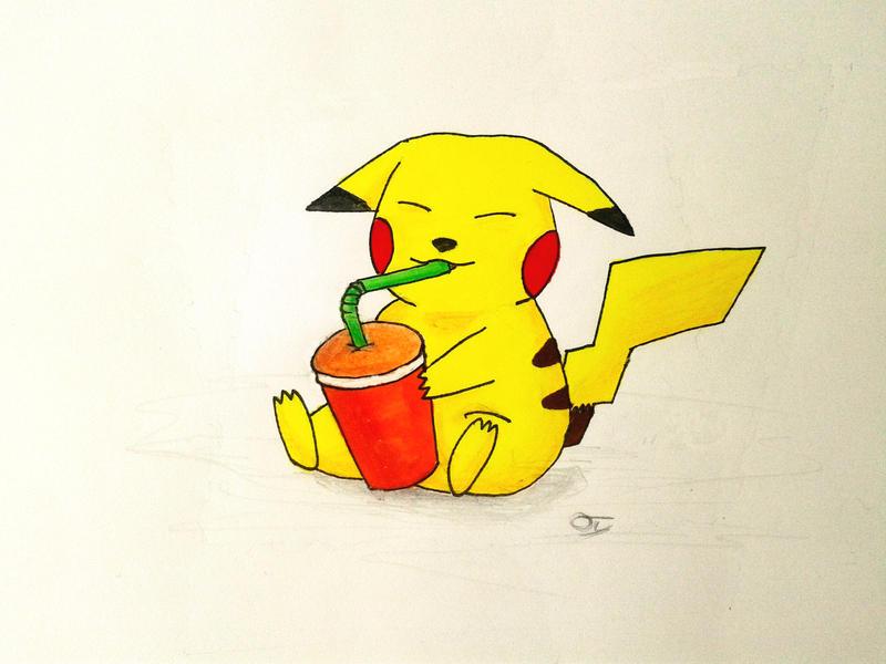 Water Break - Pikachu by omercan1993