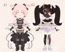 [OPEN] #1 Adoptable Chibi Auction 0/2 by juliangelistic