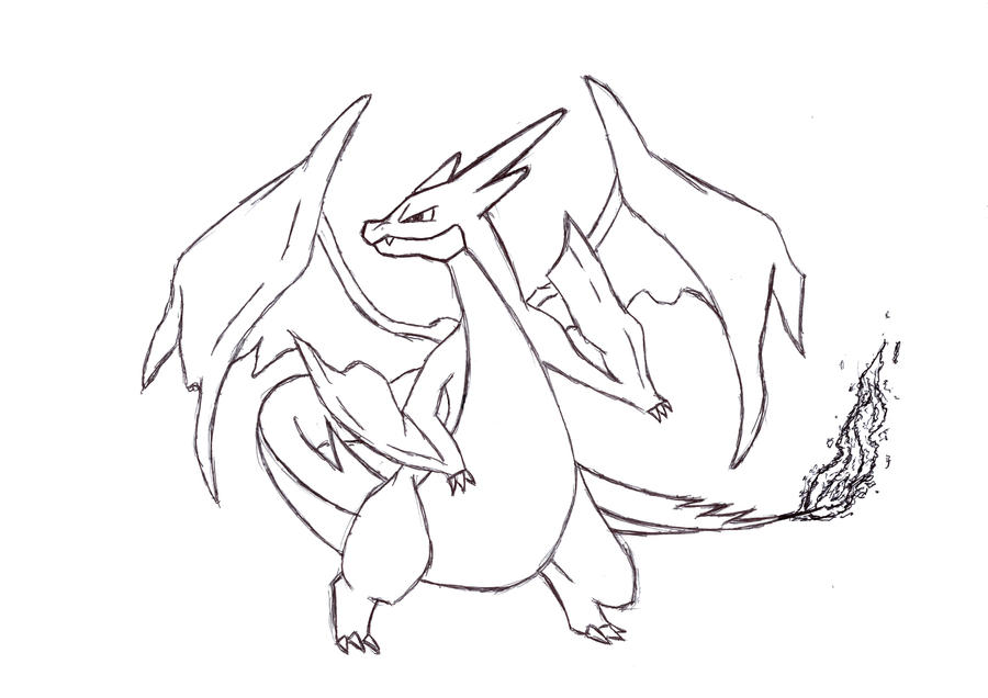 Mega charizard drawing