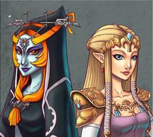 Midna and Zelda - Close-up