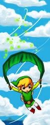 Bookmark - Deku Leaf Gliding by sketchtastrophe