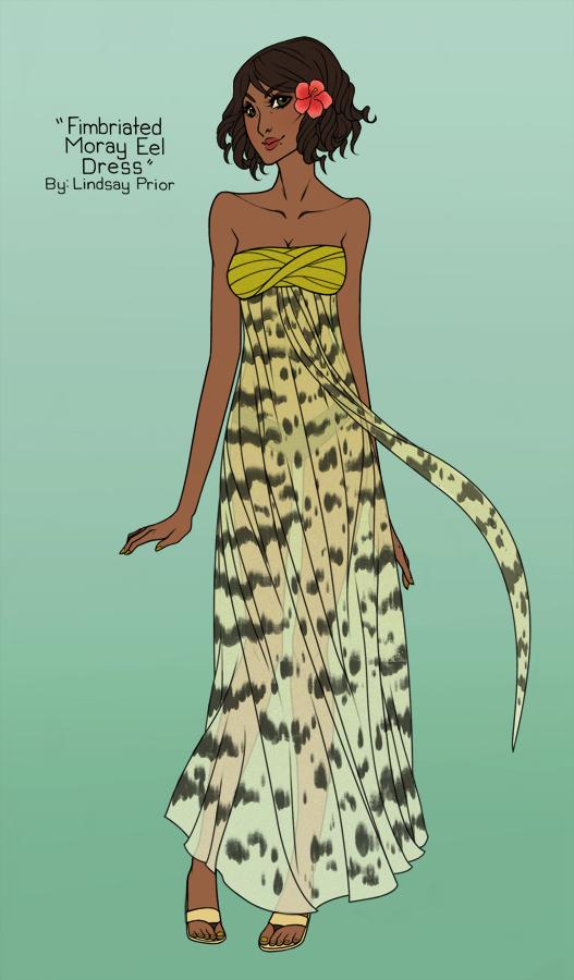 Fimbriated Moray Eel Dress