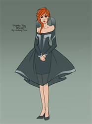 Manta Ray Dress by sketchtastrophe