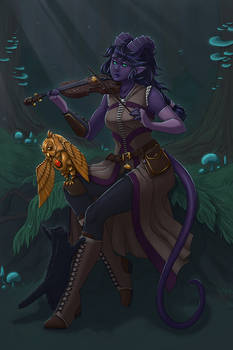 Tiefling Bard Commission