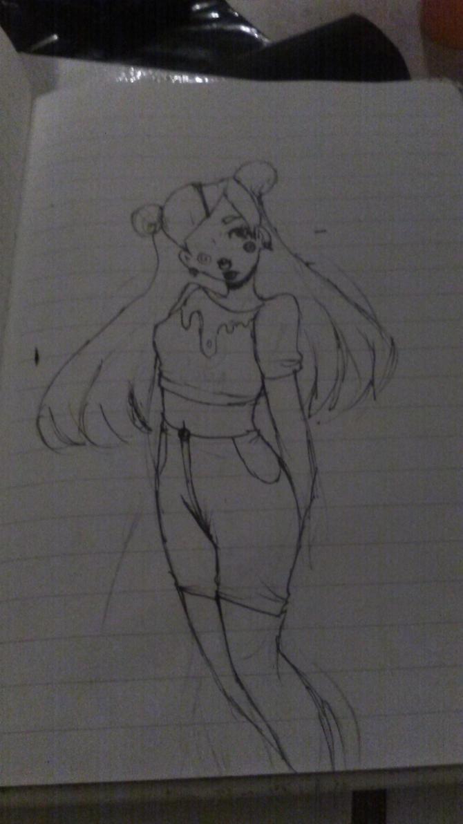 Random Pastel Goth Girl by Devilishkitty21