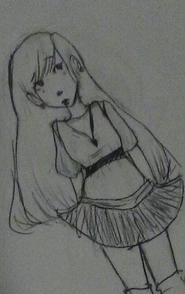 Female Drawing by Devilishkitty21