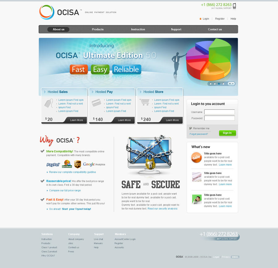online payment template
