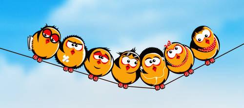 Chicks row