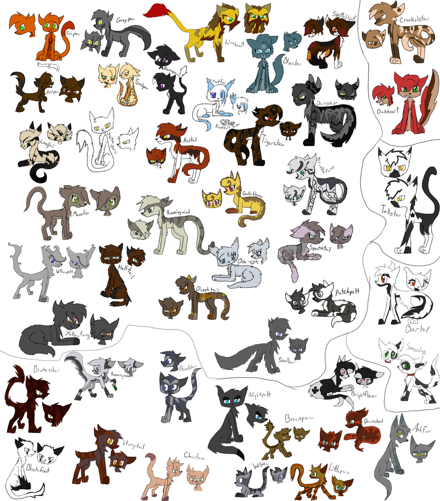 Warrior cat coloring games - Warrior Cats Designs By Evildraws Warrior Cats Designs By Evildraws