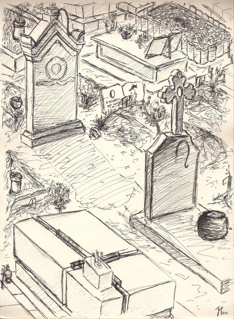 Graveyard drawing by ArtistSoul13