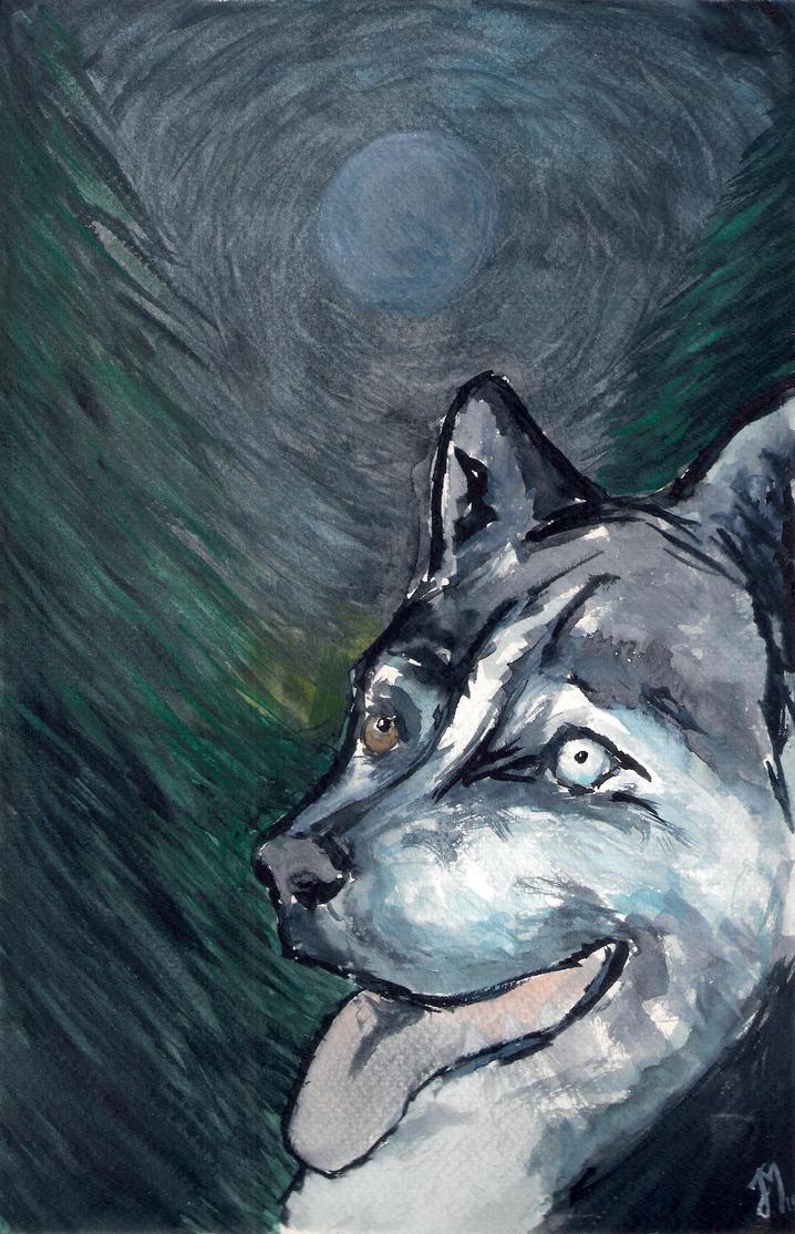 Husky illustration by ArtistSoul13