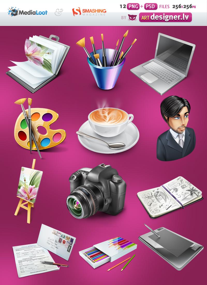 Designer portfolio icons by LazyCrazy