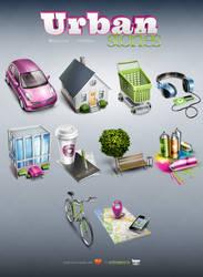 Urban Stories - 10 free icons