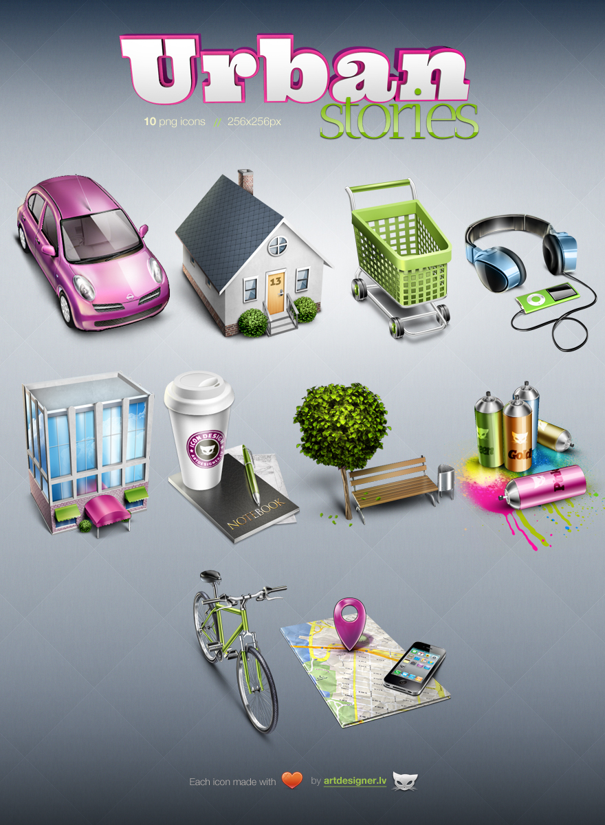 Urban Stories - 10 free icons by LazyCrazy