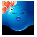 Kissy Face Emoticon by LazyCrazy