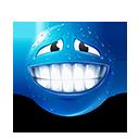 Sweat Smile Emoticon by lazymau