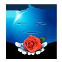 ROse Flower Emoticon by lazymau