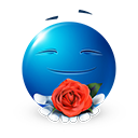 ROse Flower Emoticon by LazyCrazy