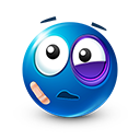 Beaten Emoticon by LazyCrazy