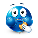 Eating Cookie Emoticon by LazyCrazy