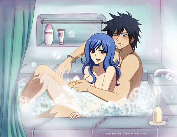 Bubble Bath with Her Gray-sama by Inspired-Destiny
