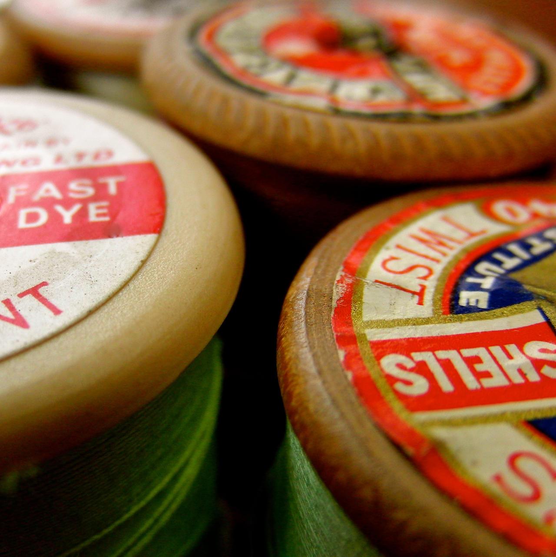 Vintage Cotton Reels by KateHodges