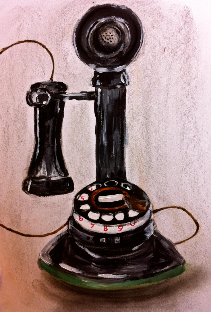 Retro Telephone by KateHodges