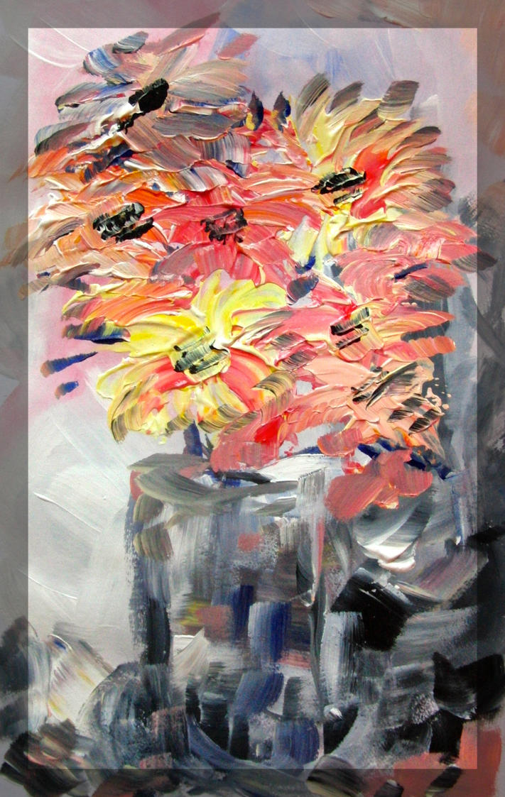 Acrylic Flowers by KateHodges