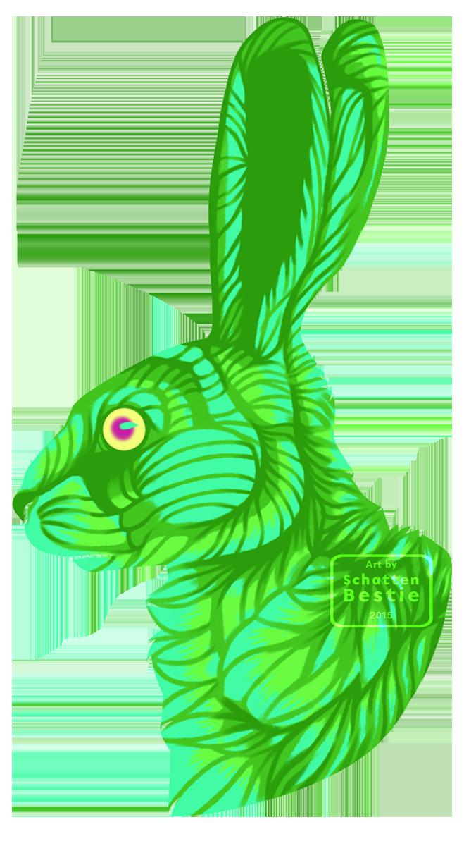 Green Rabbit- - Design by Beast91