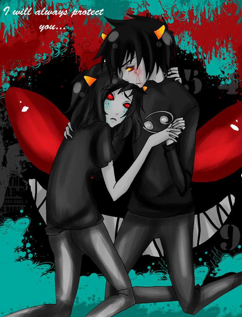- Karkat x Terezi: I will protect you - by capochi