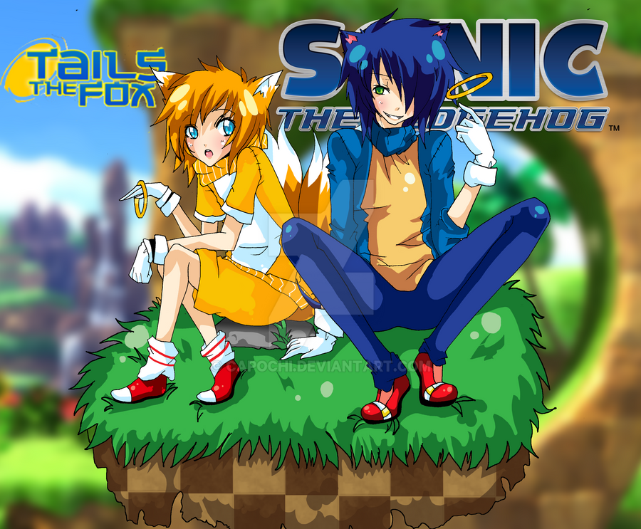 - Sonic and Tails - by capochi