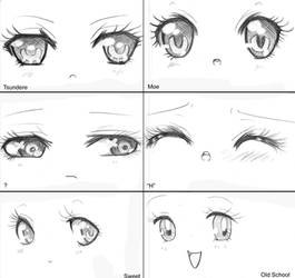 - Manga Eyes, Manga Types - by capochi