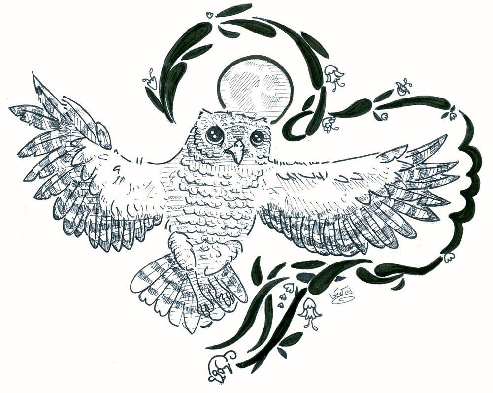 Screech Owl by eggsistoast