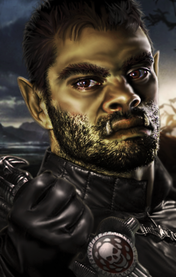 Half Orc Portrait Half-Orc Assass...