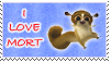 I Love Mort Stamp by April-Moon