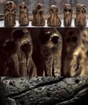 6 Spanish Necropolis Gold Cthulhu Idols Fetish