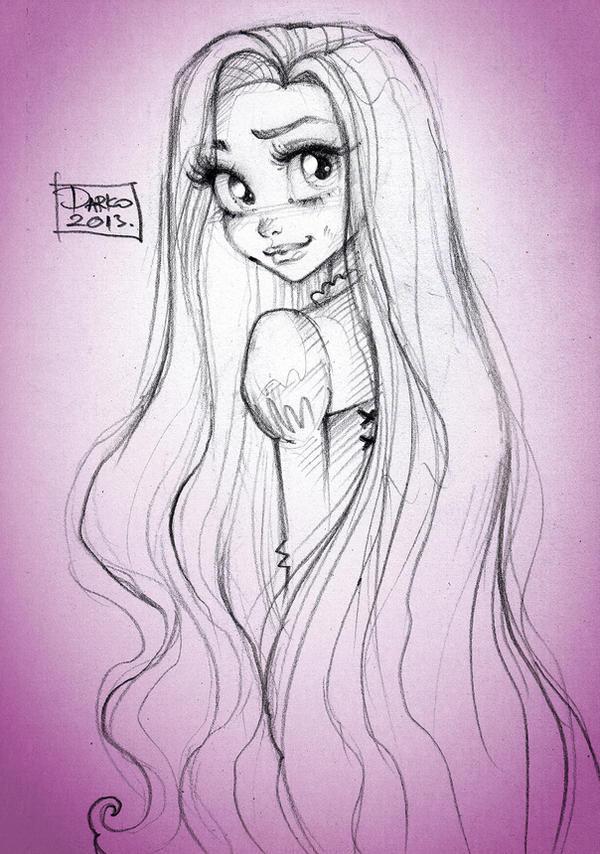 How To Draw Disney Princess Rapunzel