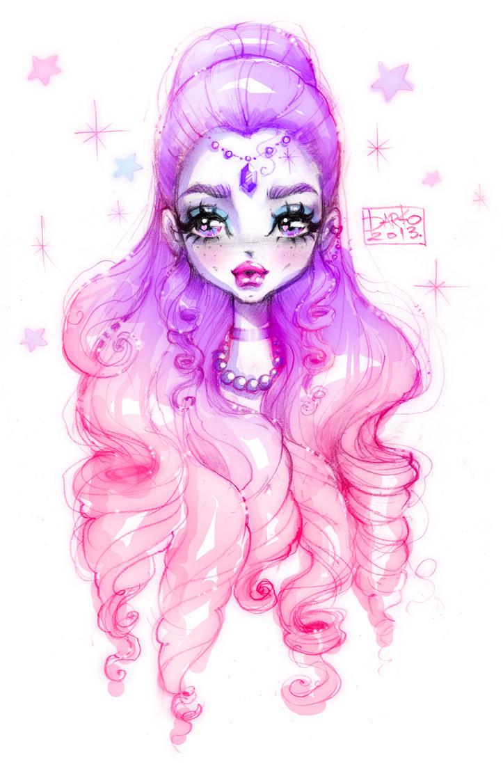 Coloriage Kawaii Princess Jecolorie Com