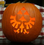 Triforce Pumpkin Lit Up